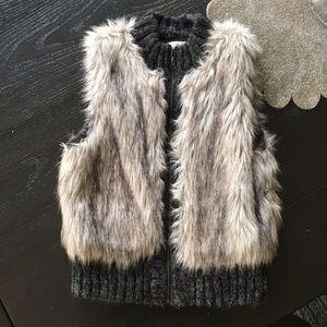 Ann Taylor Loft Faux Fur Sweater Vest.